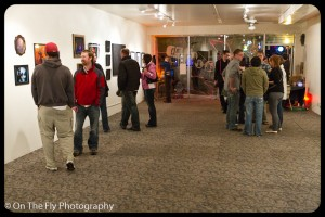 Browsing and chatting at the FoCo Art Lab.