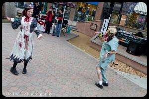 Zombie groove things being shaken.
