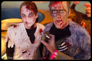 What are zombies doing in the bar?